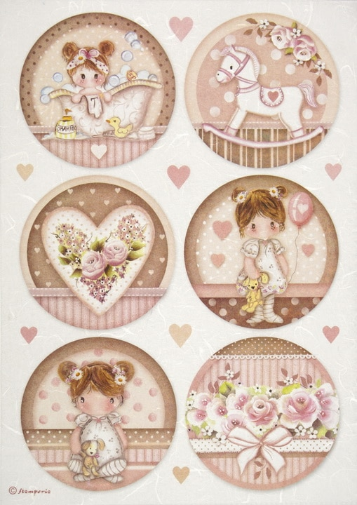 Rice Paper - Little Girl round