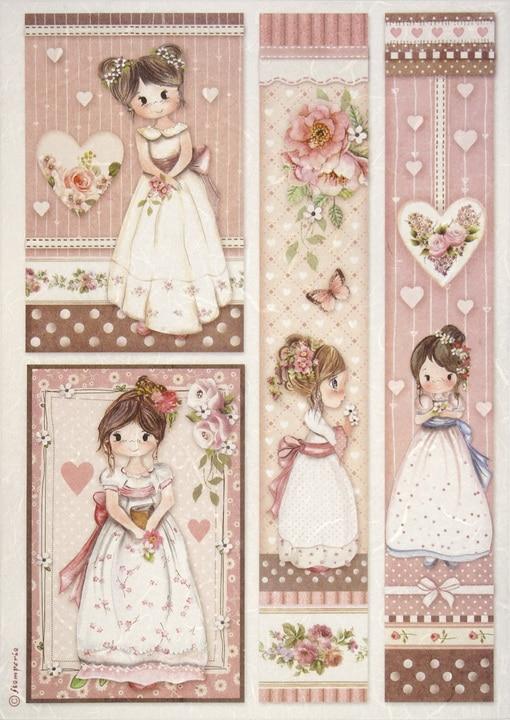 Rice Paper - Little Girl Frames
