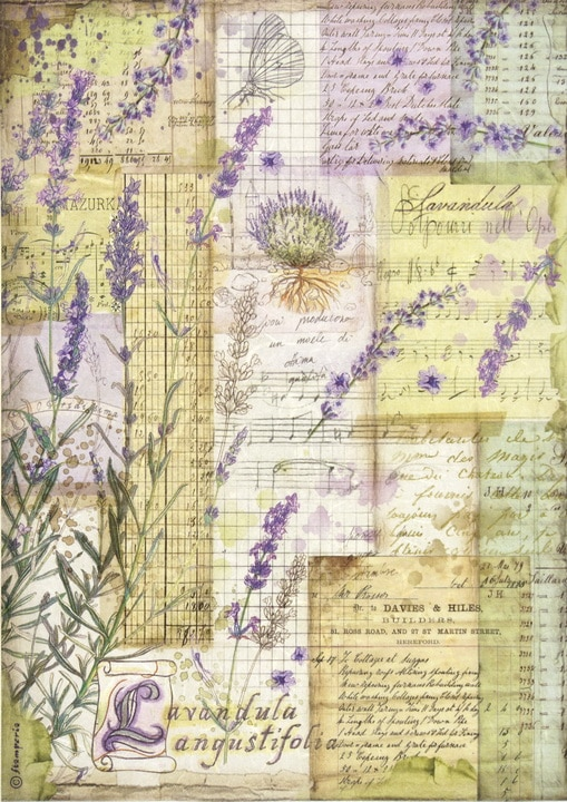 Rice Paper - Lavender fantasy