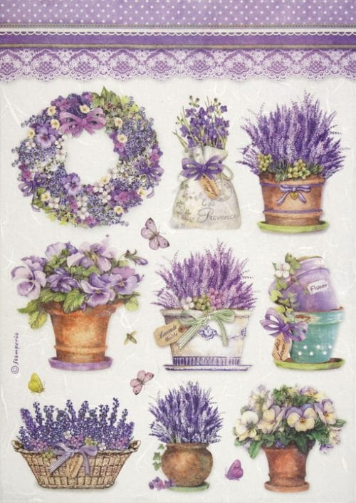 Rice Paper - Lavender vase