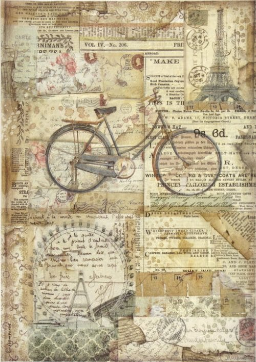 Rice Paper for Decoupage - Bicycle