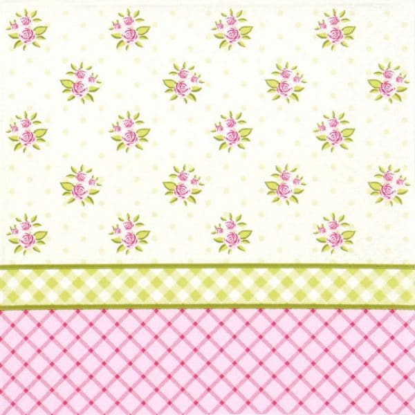 Paper Napkin - English Floral Wallpaper