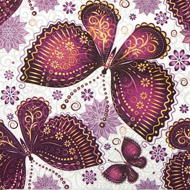 Lunch Napkins (20) - Ethnic Butterfly