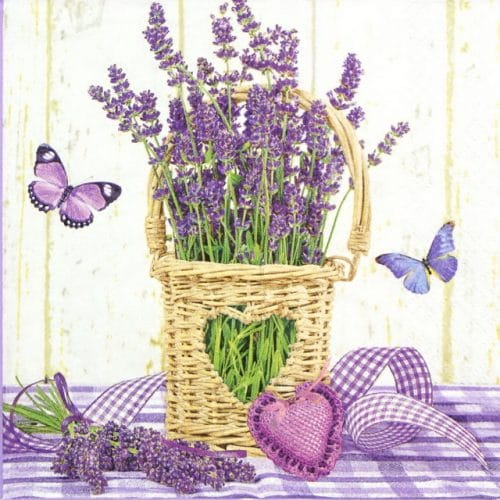 Lunch Napkins (20) - Lavender in Pot