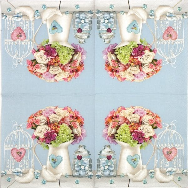 Paper Napkin - Jug Full of Flowers