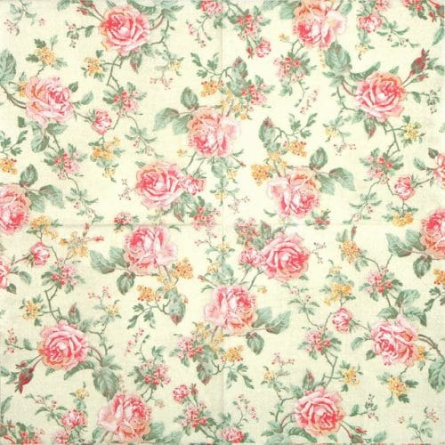 Lunch Napkins (20) - English Style Roses