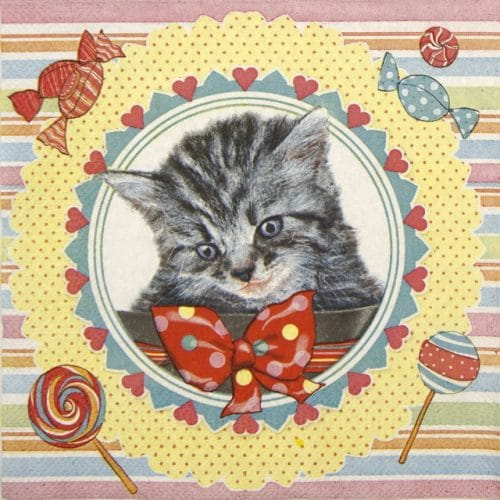 Paper Napkin - Sweet Kitten
