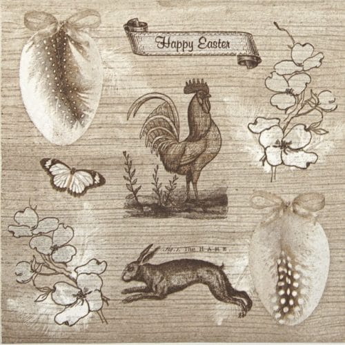 Lunch Napkins (20) - Vintage Happy Easter