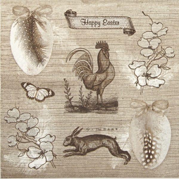 Lunch Napkins (20) - Vintage Happy Easter