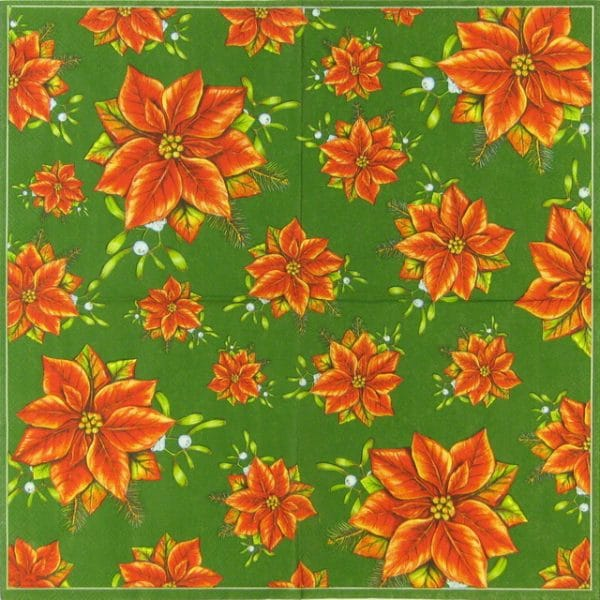 Paper Napkin - Poinsettia