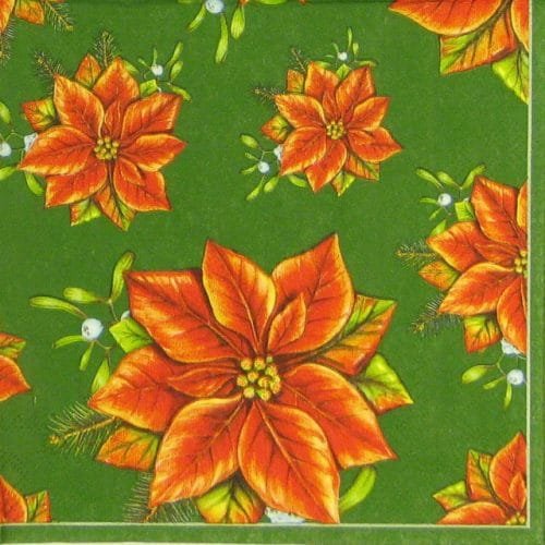 Paper Napkin - Poinsettia_Daisy_sdgw000302
