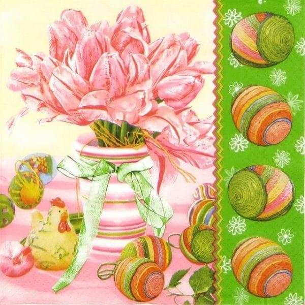 Paper Napkin - Easter Flower Egg