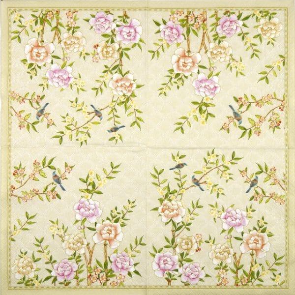 Paper Napkin - Palace Garden Fresco