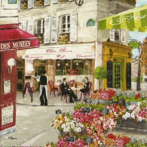 Paper Napkin - Rues de Paris