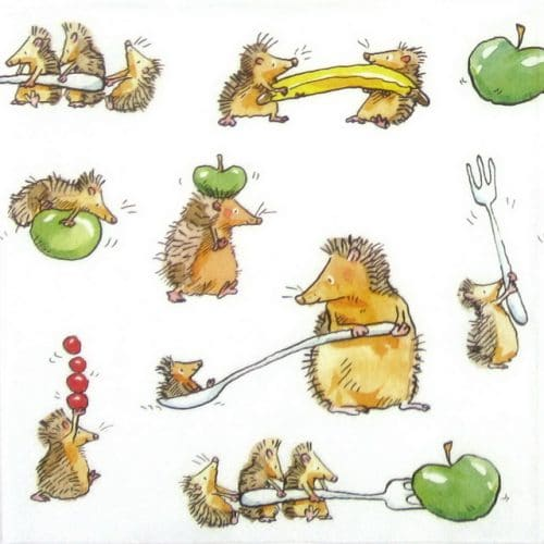 Lunch Napkins (20) - Anita Jeram: Funny Hedgehogs