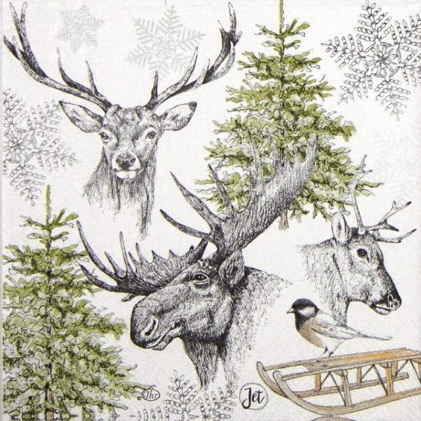 Lunch Napkins (20) - Winter Wildlife
