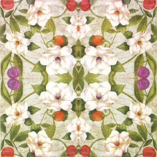 Paper Napkin - Magnolia Flower