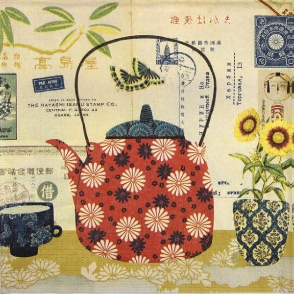 Paper Napkin - Gwenaelle Trolez Creations: Le thé