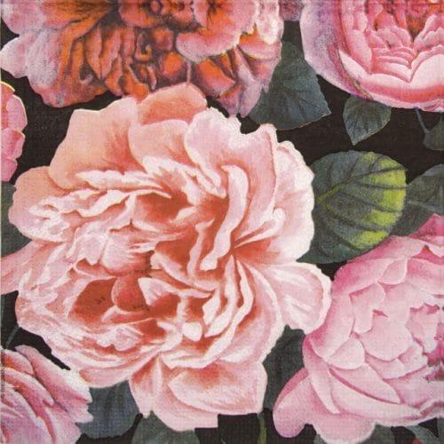 Paper Napkin - Breithbach Design: Pretty Peonies
