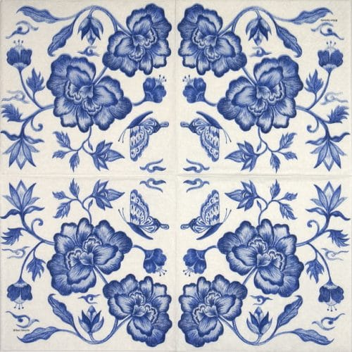 Paper Napkin - Ron Tanovitc: Prince's Peony