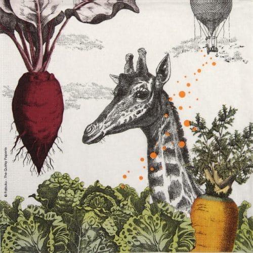 Paper Napkin -  Pabuku: Veggie Day
