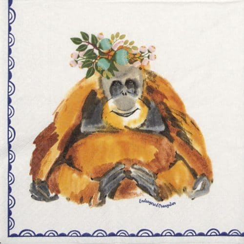 Lunch Napkins (20) - Orangutan