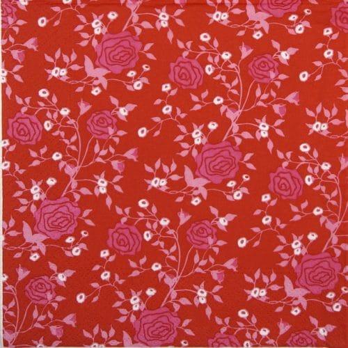 Paper Napkin - Rosy Allover