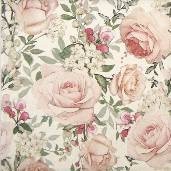 Lunch Napkins (20) - Gorgeous Roses