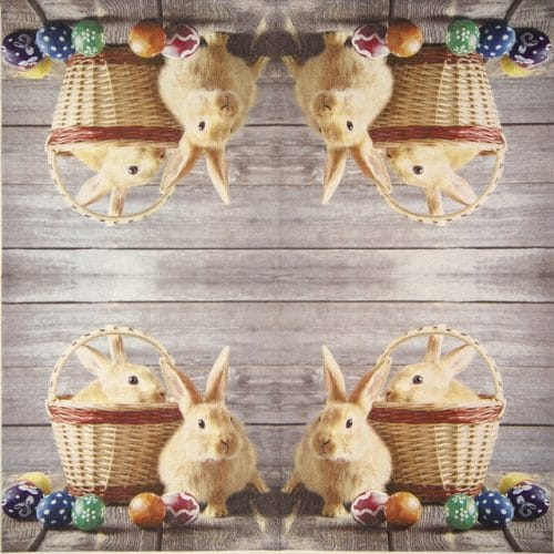 Paper Napkin -  Easter on Wood