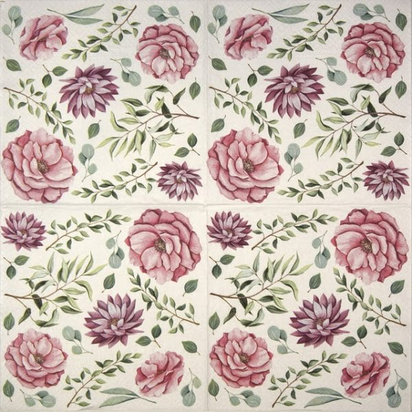 Lunch Napkins (20) - Blooming Dahlia