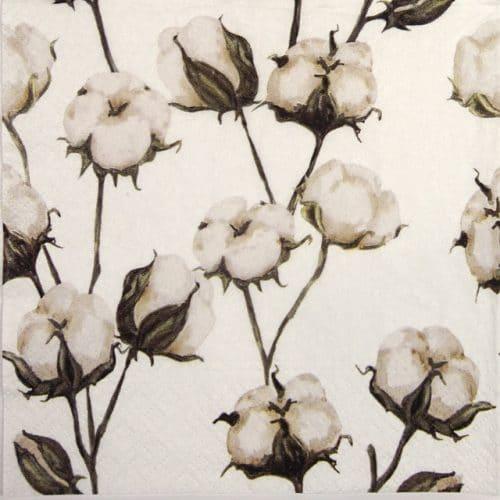 Paper Napkin - Cotton Branches