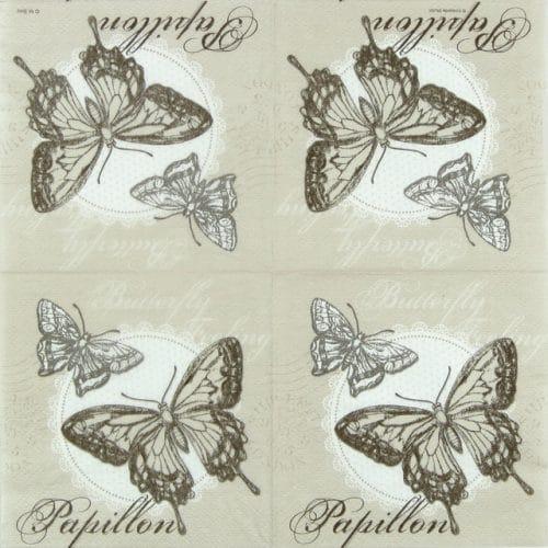 Lunch Napkin (20) - Butterfly Feeling sand