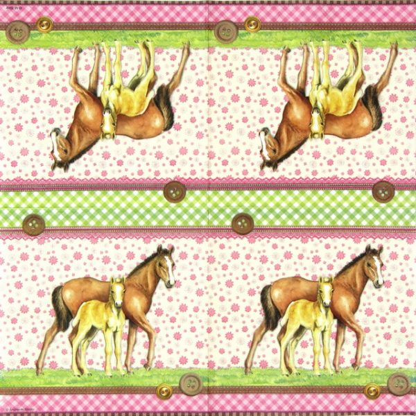 Paper Napkin - Signed Horses