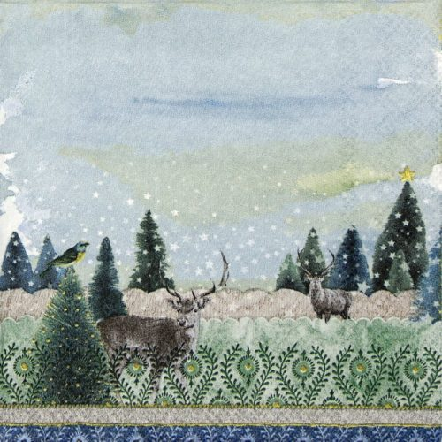 Lunch Napkins (20) - Deer Winter Scene