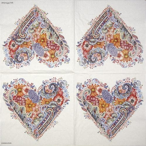 Lunch Napkins (20) - Spring Heart