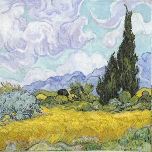 Lunch Napkins (20) - Van Gogh: Wheatfield