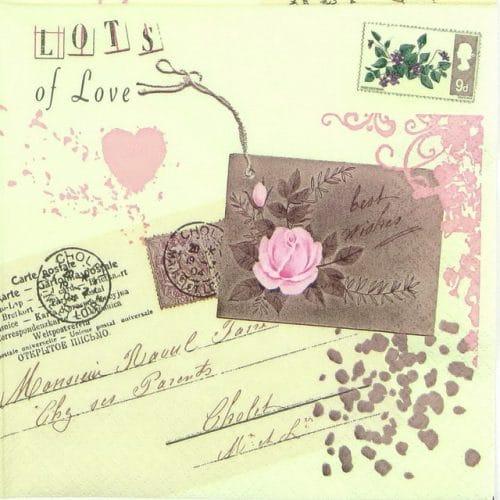 Paper Napkin - Love Letter
