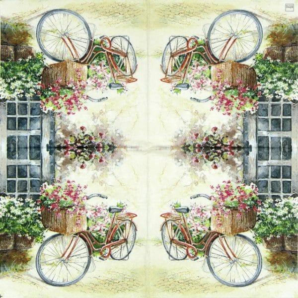 Paper Napkin - Flower Bike