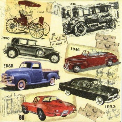 Paper Napkin - Classic Cars