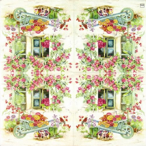 Paper Napkin - Backyard Garden