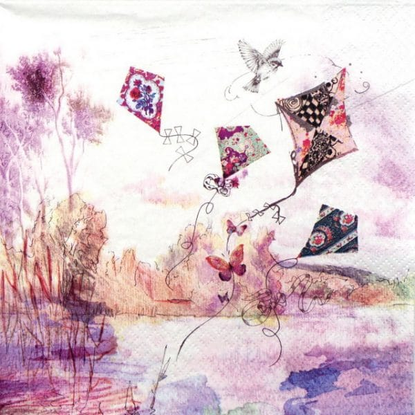 Lunch Napkins (20) - Abstract Kites