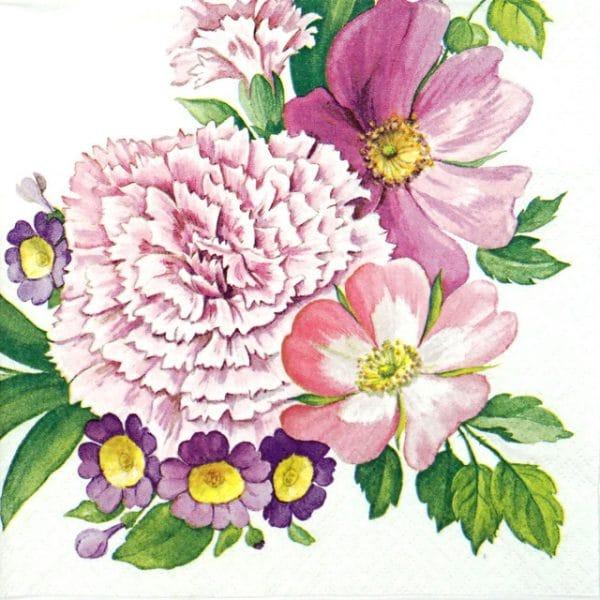 Paper Napkin - Carnation Flower