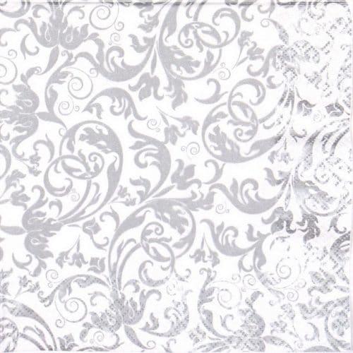 Lunch Napkins (20) - Arabesque Silver