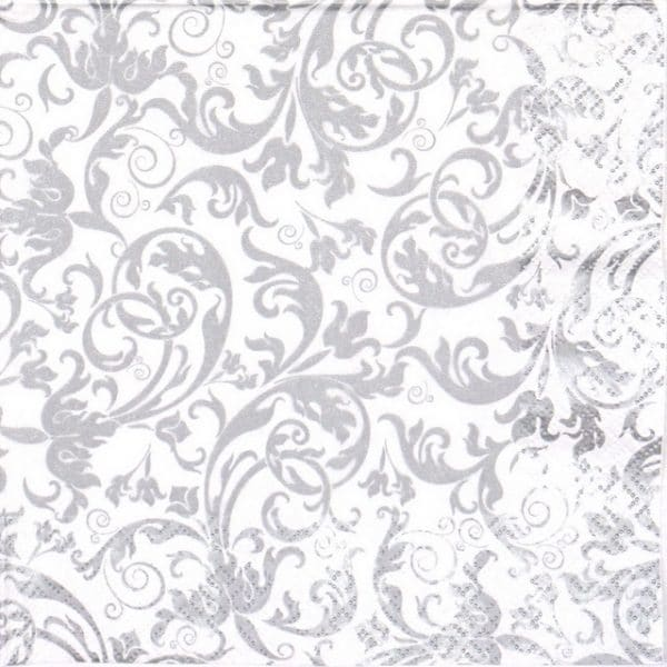 Lunch Napkins (20) - Arabesque Silver