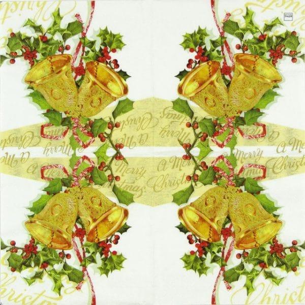 Paper Napkin - Christmas Bells