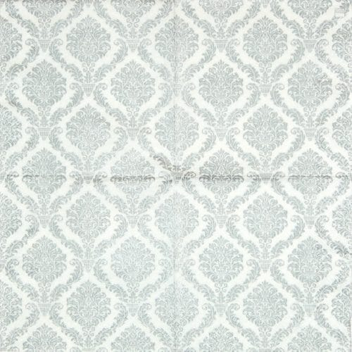 Lunch Napkins (20) -  Elegant Silver