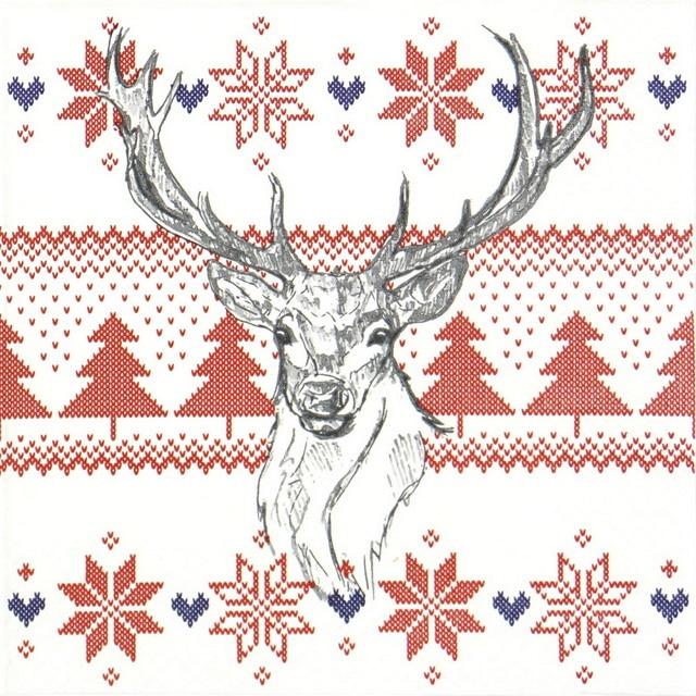 Paper Napkin - Norwegian Elk