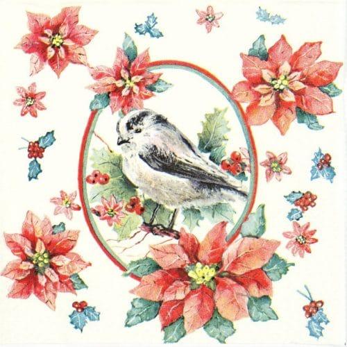 Lunch Napkins (20) - Winter Chickadee