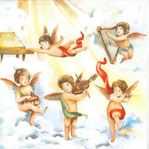 Paper Napkin - Music Angels