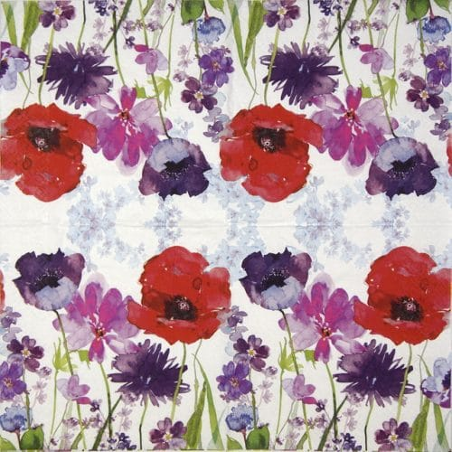 Cocktail Napkins (20) - Meadow of flowers